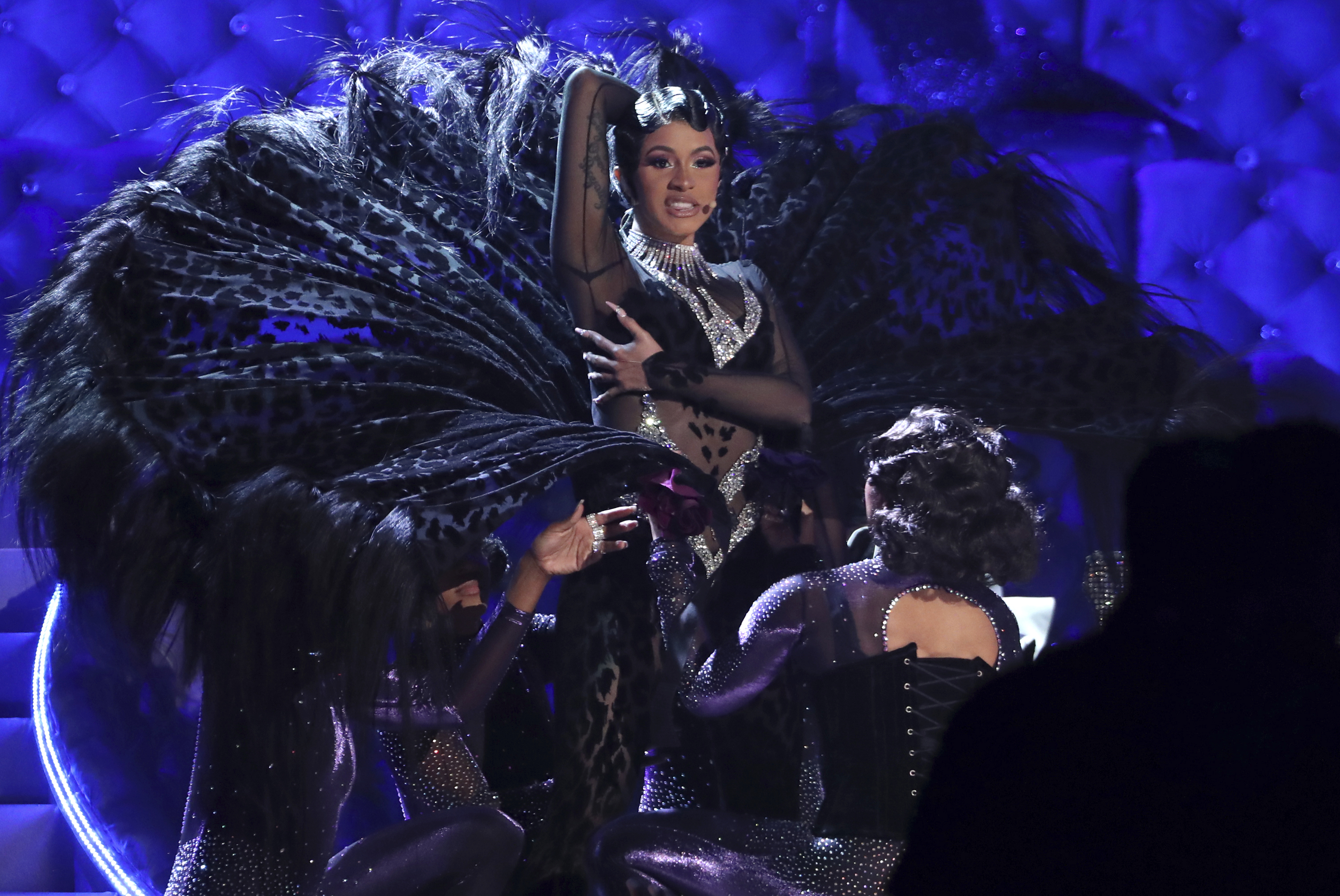 Cardi B performed her hit 'Money' at the 2019 Grammys. Credit: PA