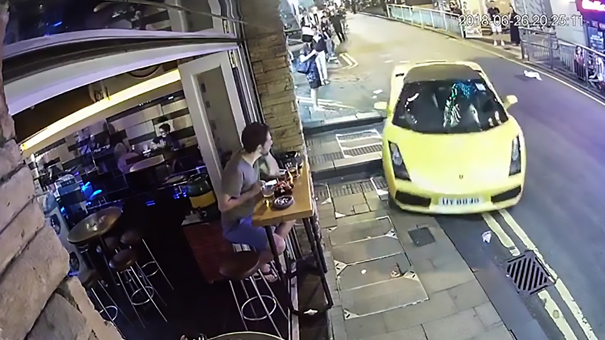 ​OAP Parks Up In Lamborghini But Forgets To Put On Handbrake