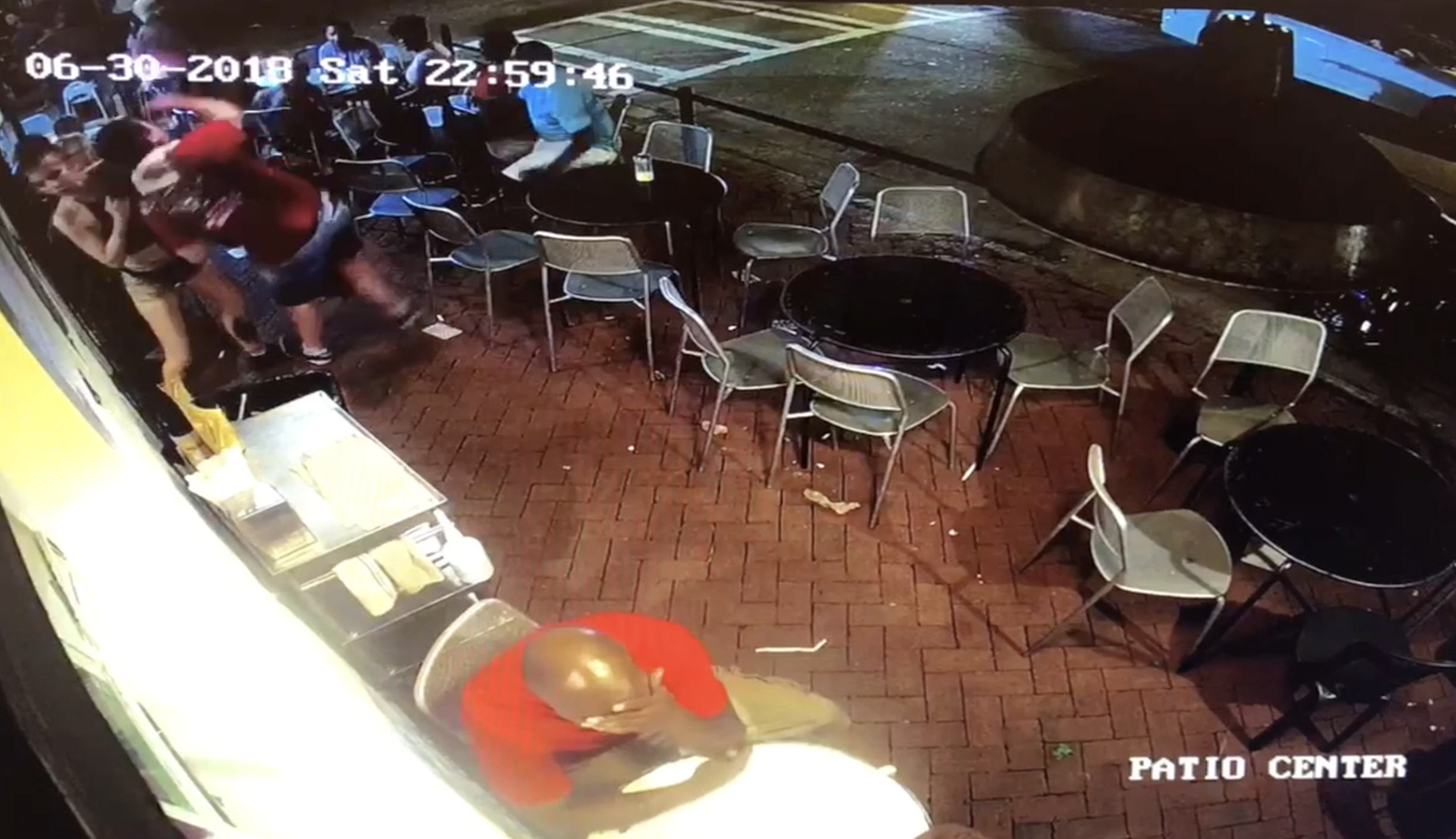 Waitress taking down butt-grabbing customer
