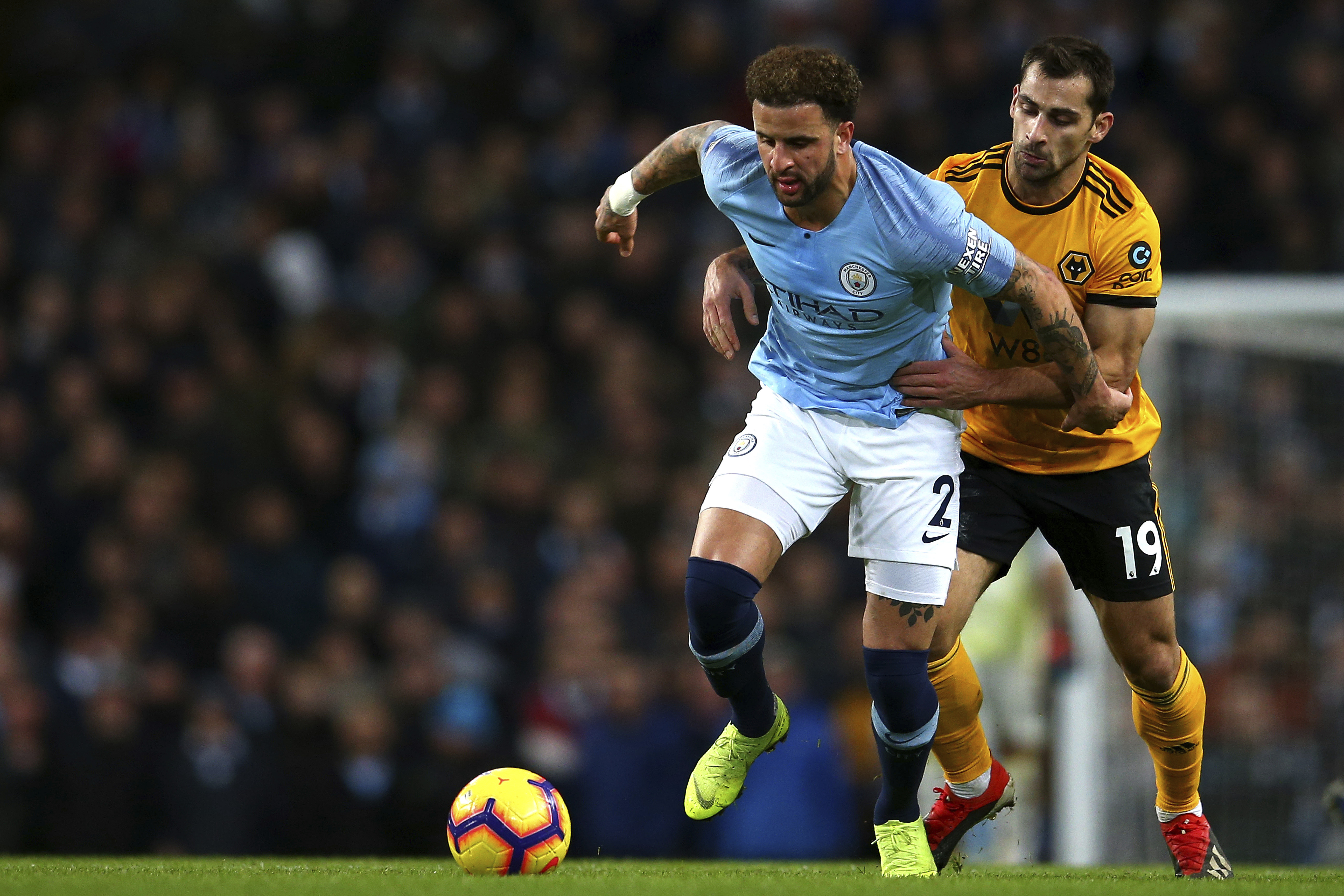 Kyle Walker's form for City hasn't been great recently. Image: PA Images