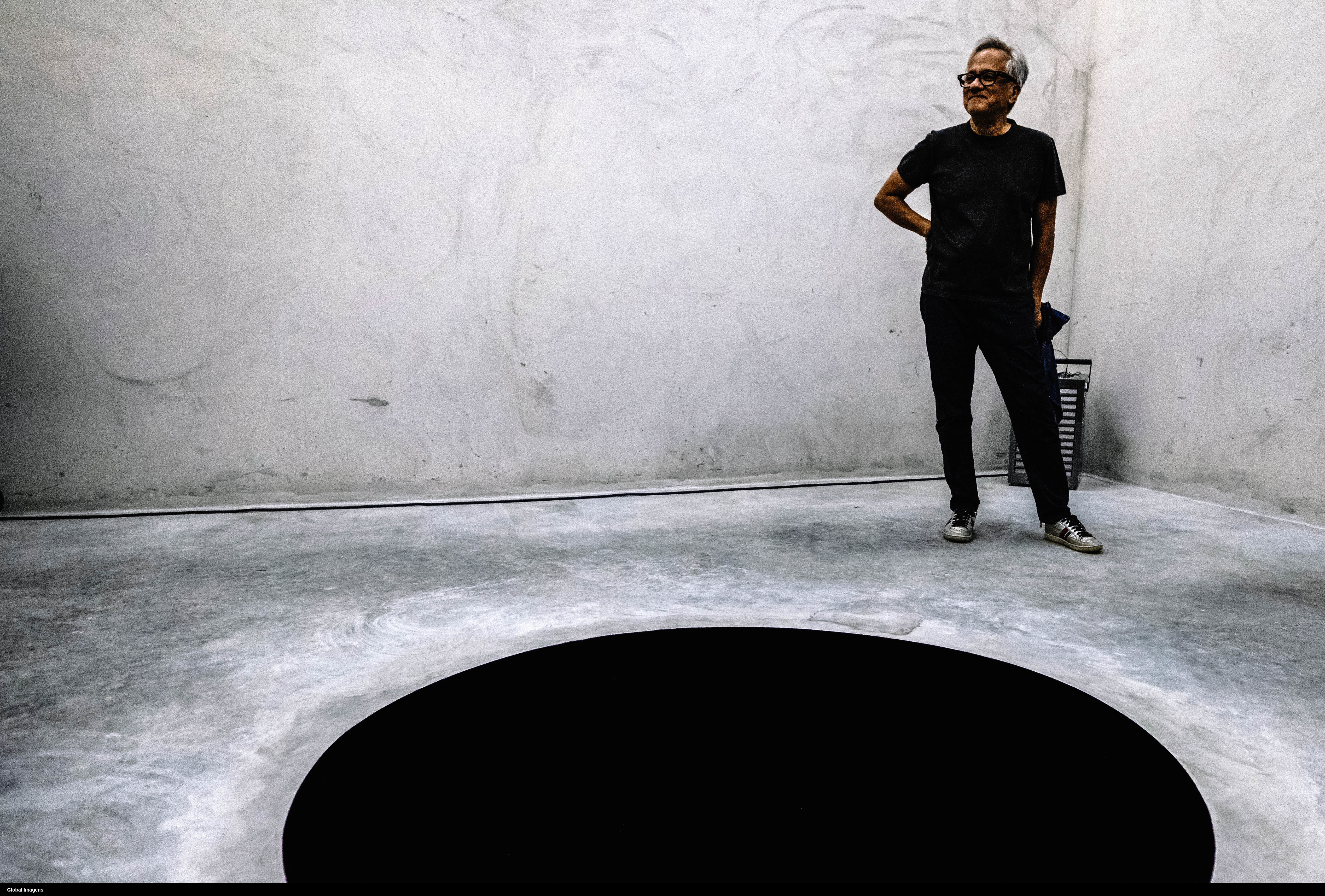 Man falls into black hole art exhibit in Portugal