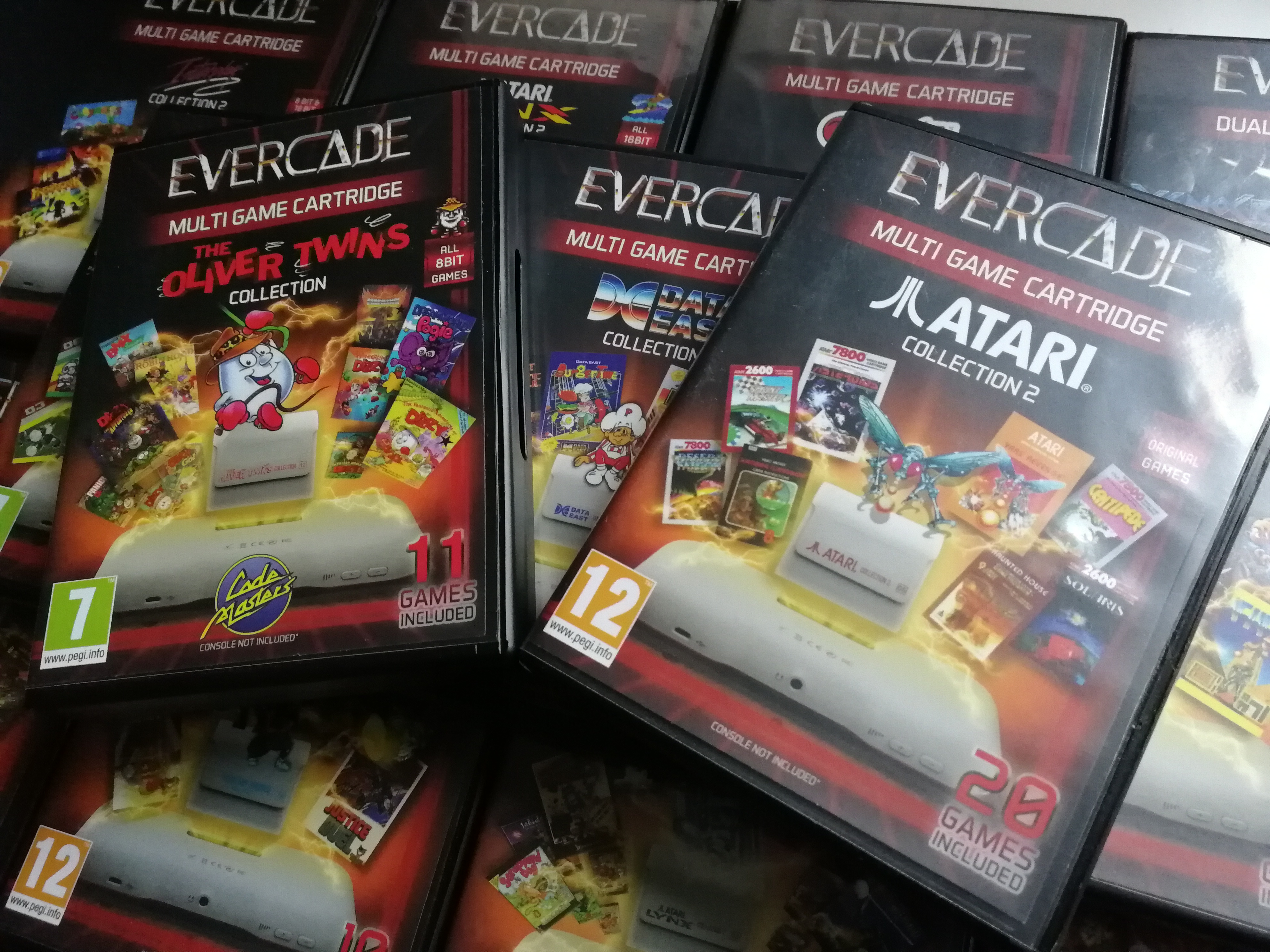 Some of the Evercade's cartridges / Credit: the author