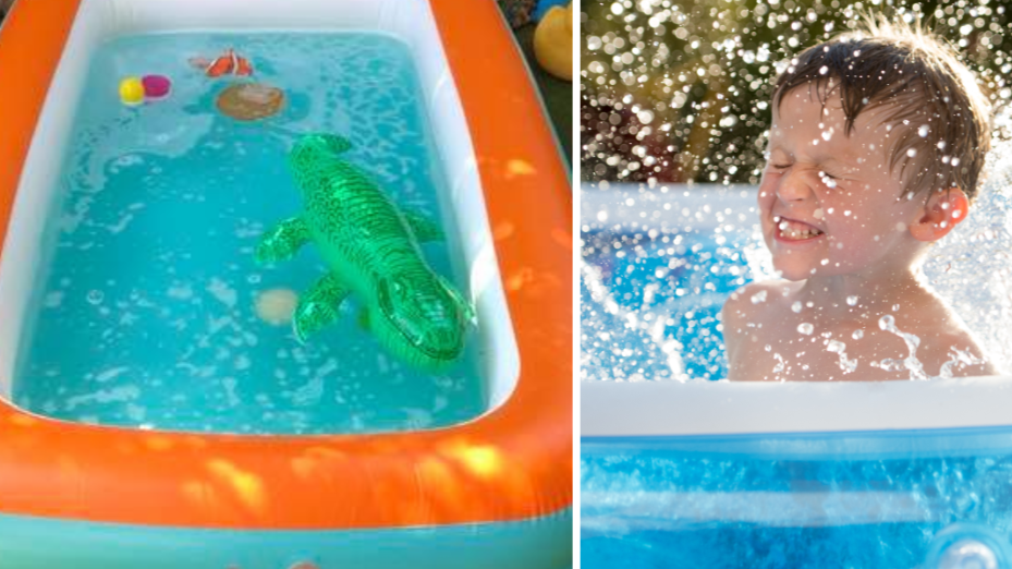 Mum's Clever Trick For Keeping Paddling Pools Clean In Summer Goes Viral