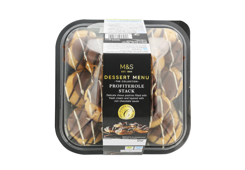 Fancy something sweet for dessert? Why not try M&S' profiterole stack! Credit: M&S