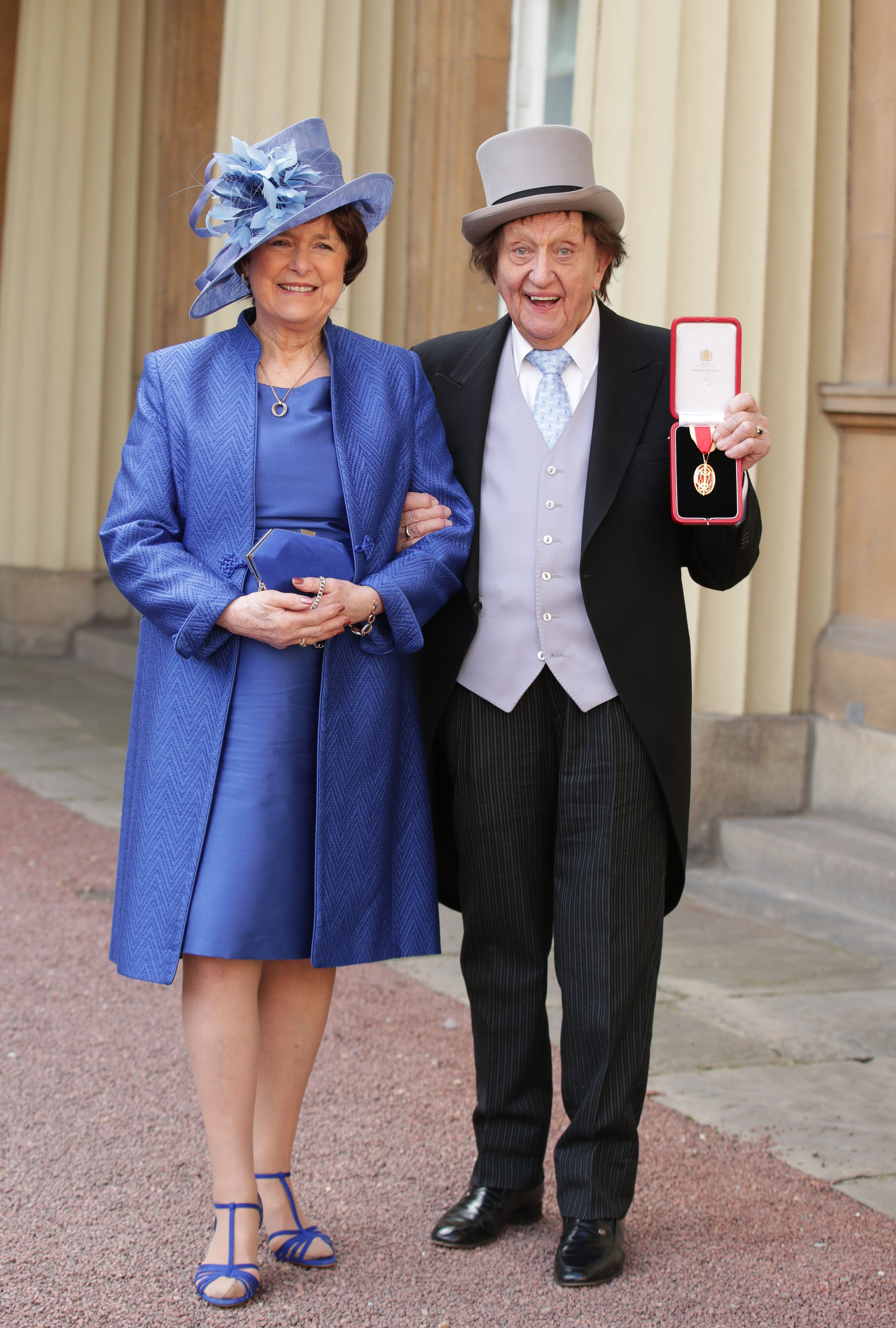 Sir Ken Dodd and his wife Anne Jones. Credit: PA
