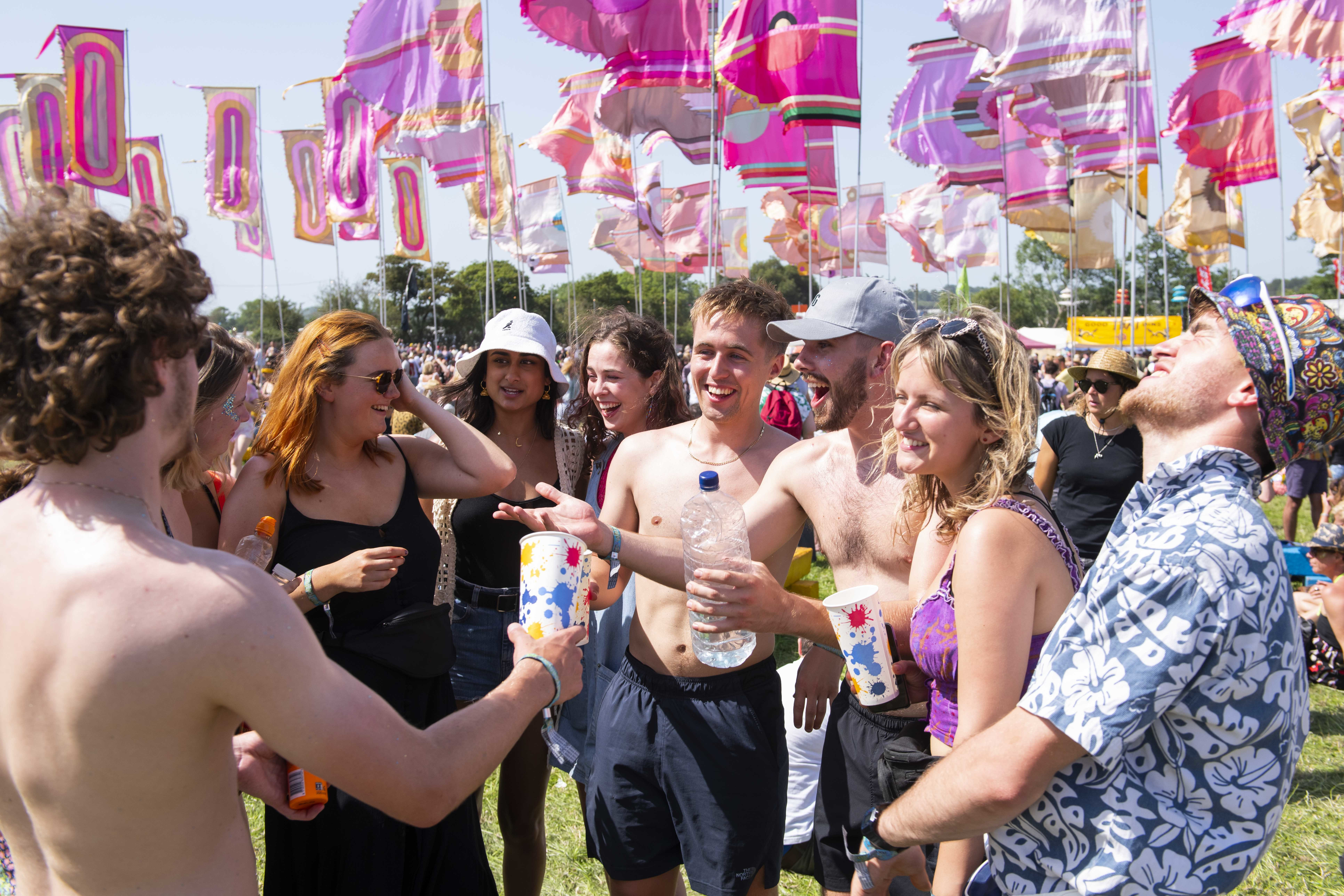 Going to a festival during hay fever season is a maverick's game. Credit: PA