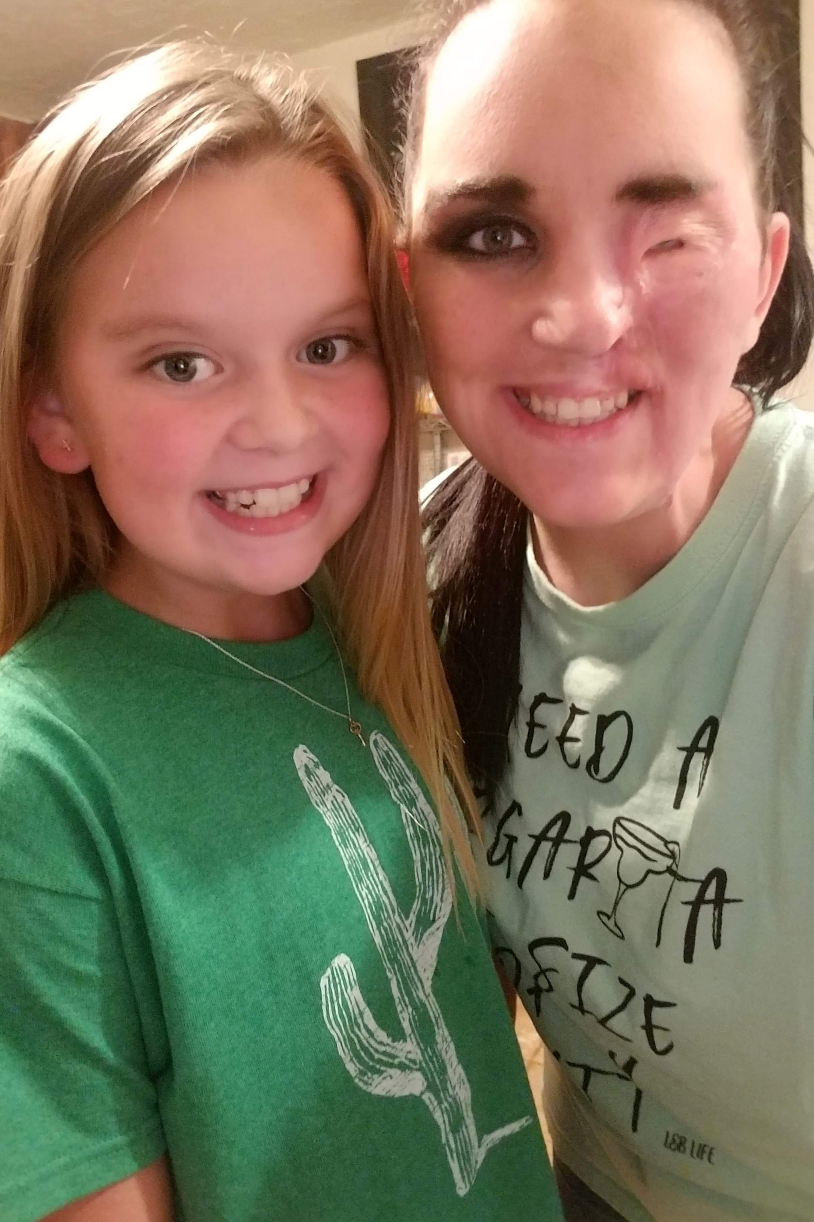 Brittney Sullivan from Texas, USA, with daughter Makennah, 10. Credit: Caters