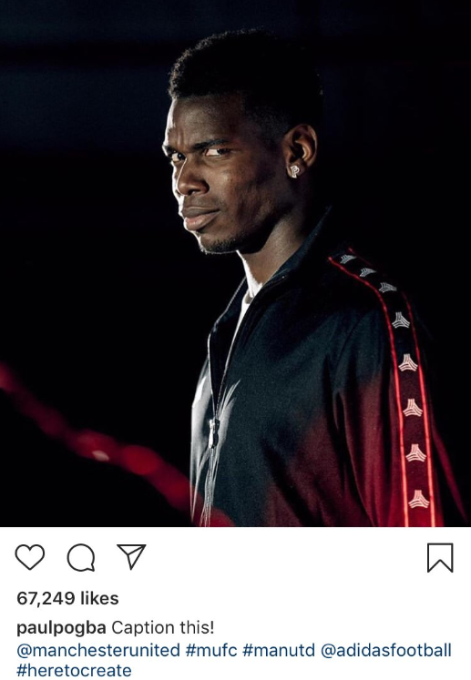 Pogba has since deleted his post. Image: Instagram