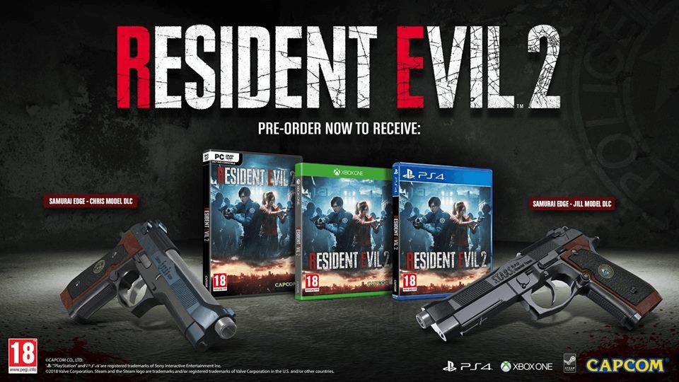 Pre-order bonuses for 'Resident Evil 2'. Credit: Capcom