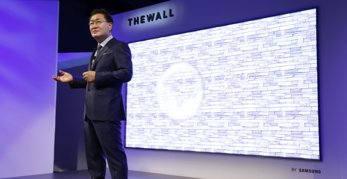 The Wall was presented at the Consumer Electronics Show (Credit: Samsung)