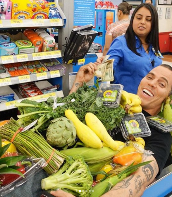 Vegans were not happy with Steve-O and said he was 'not on their team'. Credit: Instagram