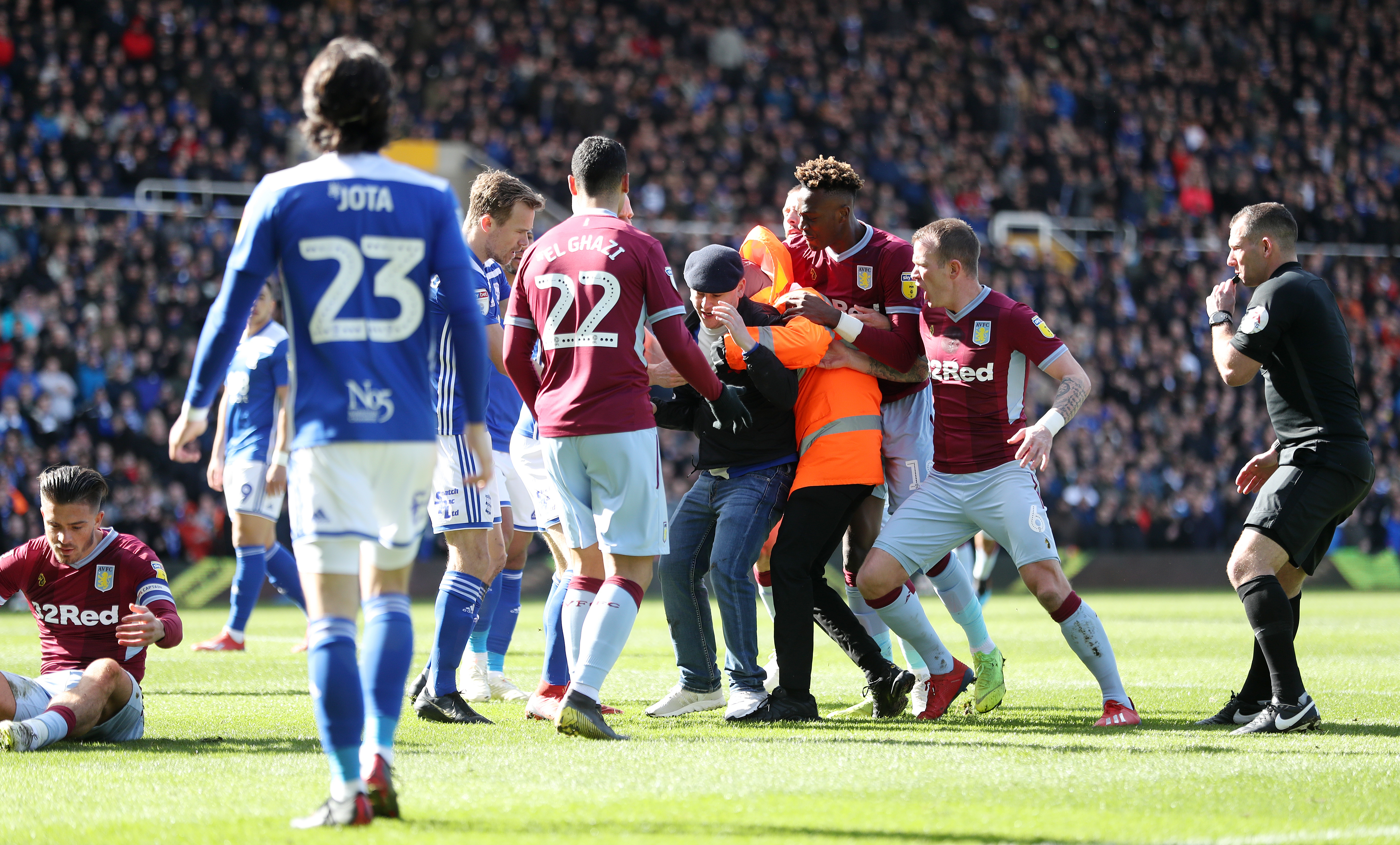 A Birmingham fan recently attacked Jack Grealish during the game against Aston Villa. Image: PA Images