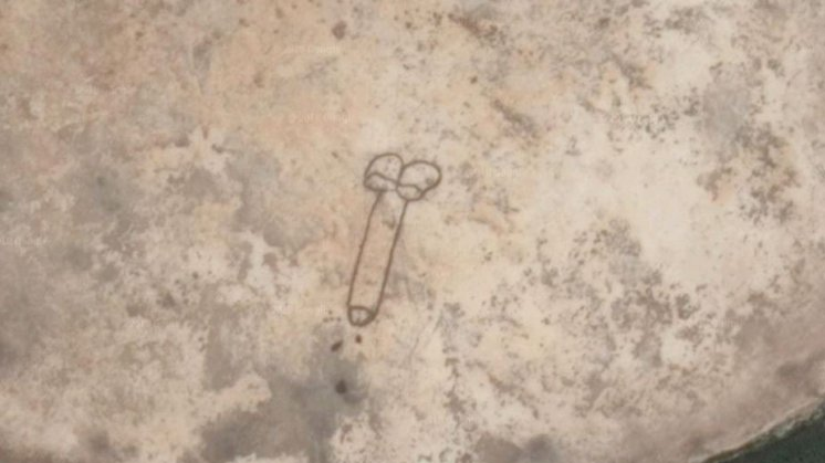 Aussie Draws A Penis So Large It Can Be Seen From Space