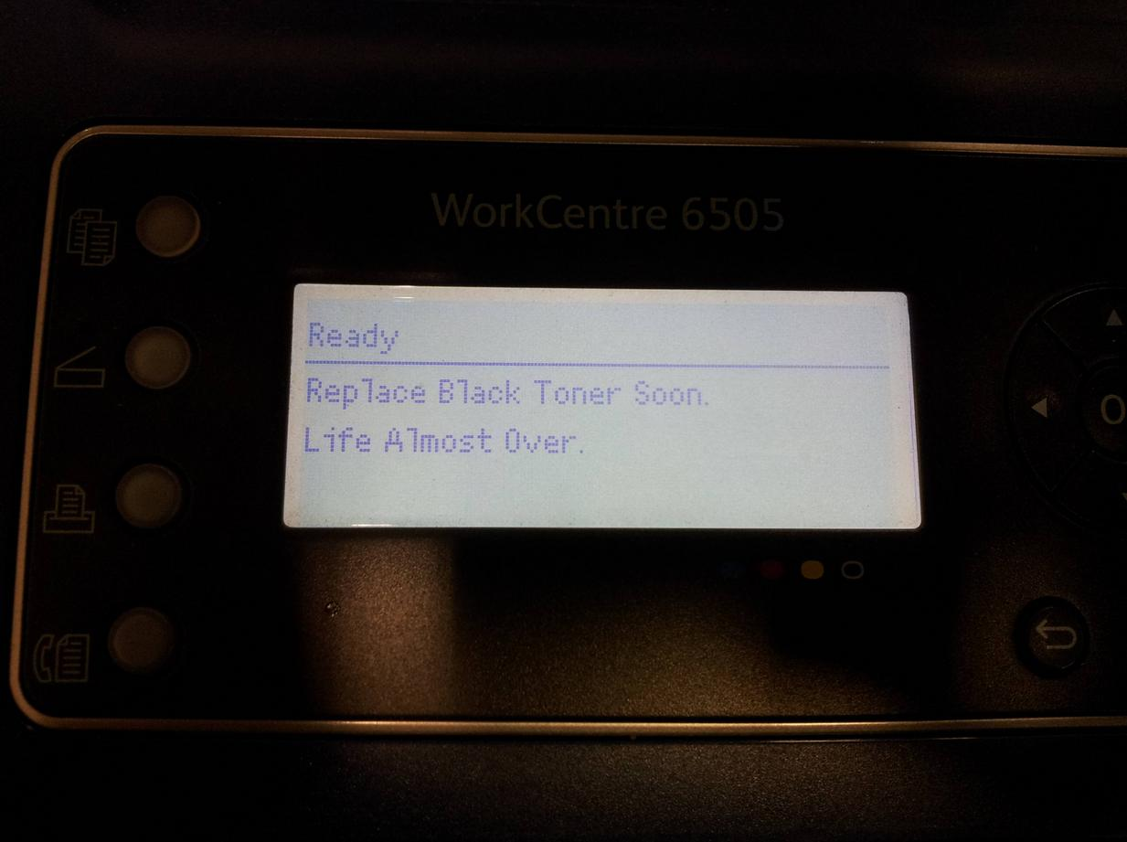 This printer is so dramatic.