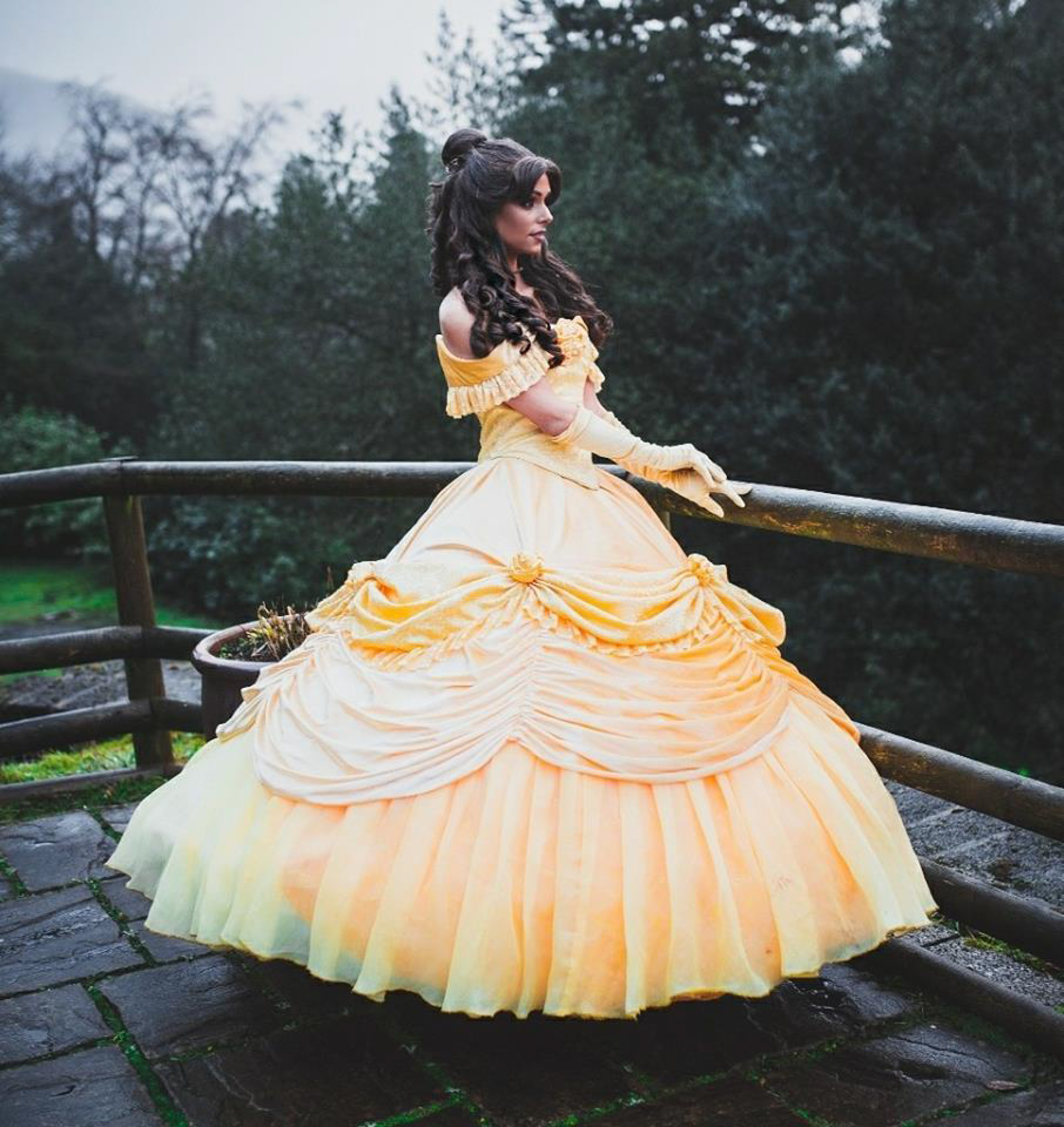 The mum of one dresses up as Belle professionally. (Credit: Mercury Press)
