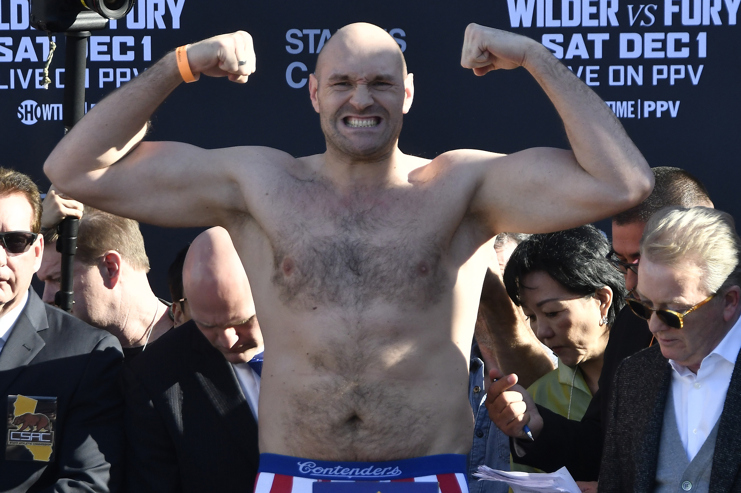 Tyson Fury faces the fight of his life against Deontay Wilder. Credit: PA