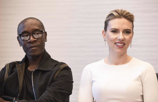 Don Cheadle and Scarlett Johansson star in the Avengers: Endgame. Credit: PA