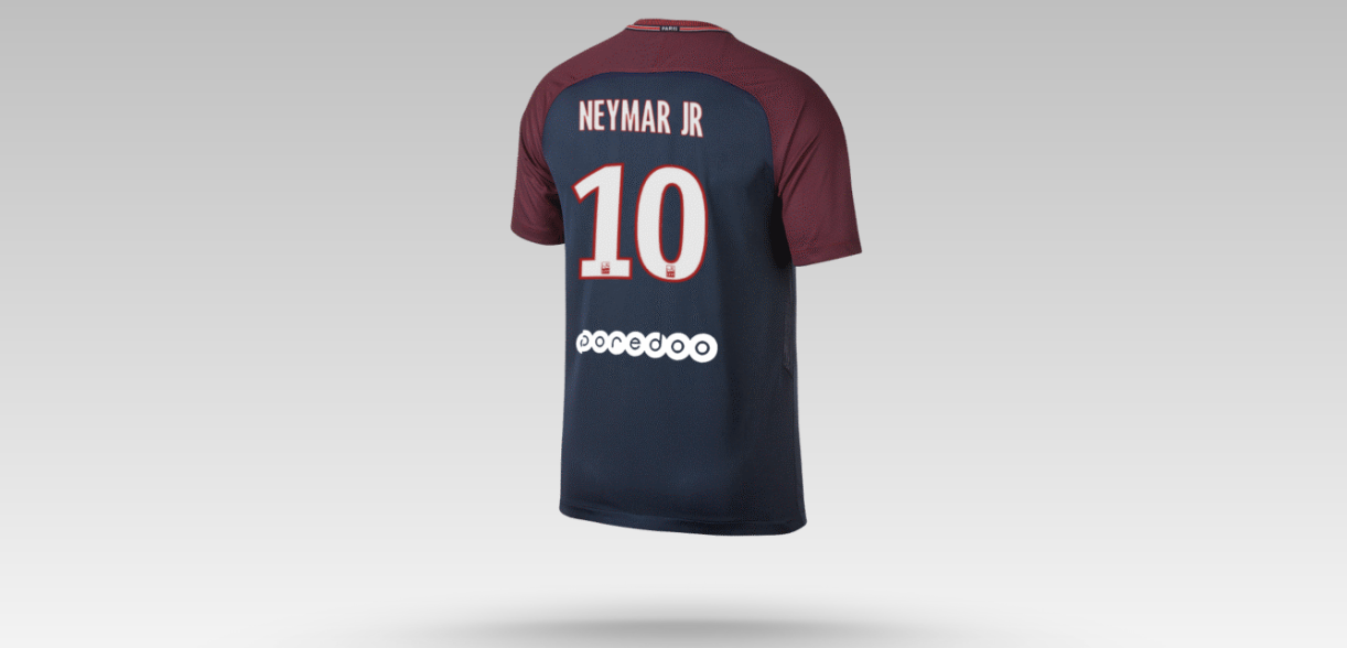 here 39 s how much a neymar jr psg shirt will set you back sportbible. Black Bedroom Furniture Sets. Home Design Ideas