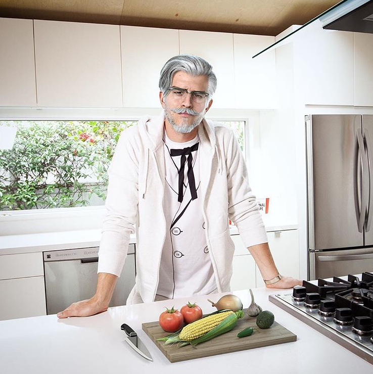 The Colonel in the kitchen. Credit: KFC