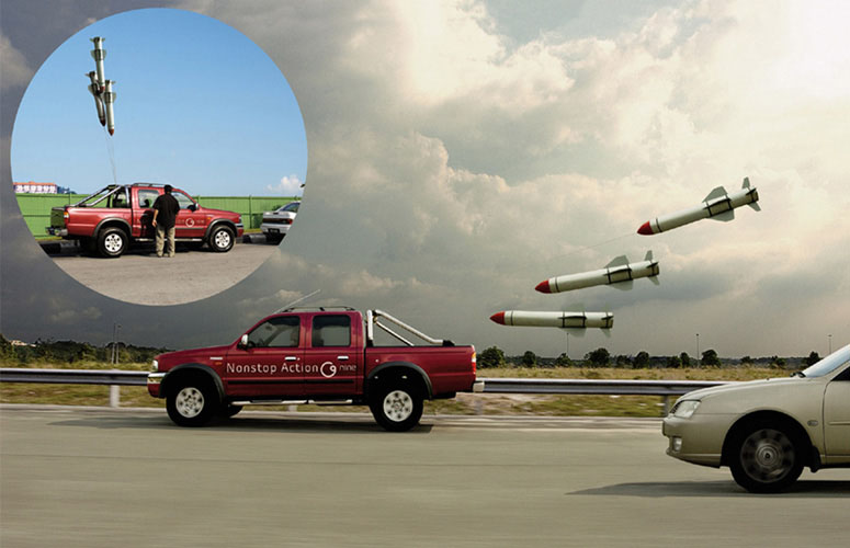 Missile balloons for your car aren't the best of ideas...