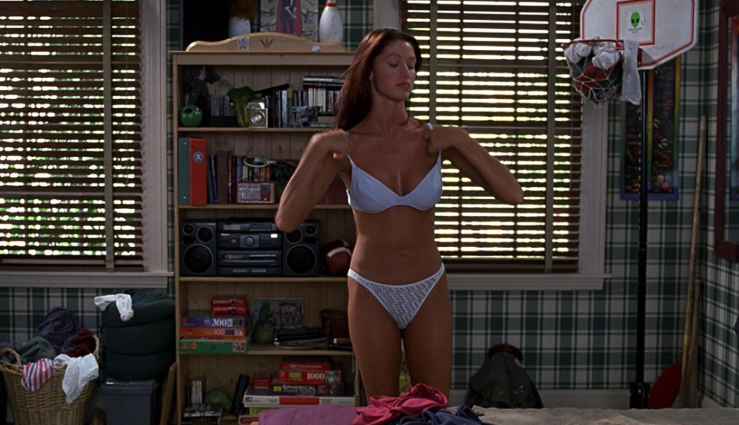 Shannon Elizabeth starred as Nadia in three movies within the American Pie franchise. Credit: Universal Pictures