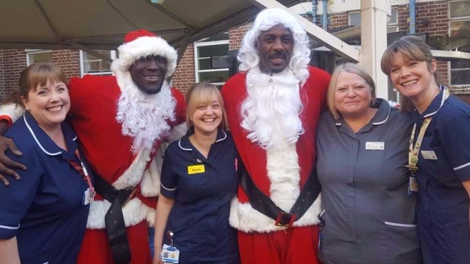 Stormzy And Idris Elba Dressed Up As Santa To Visit Kids In Hospital