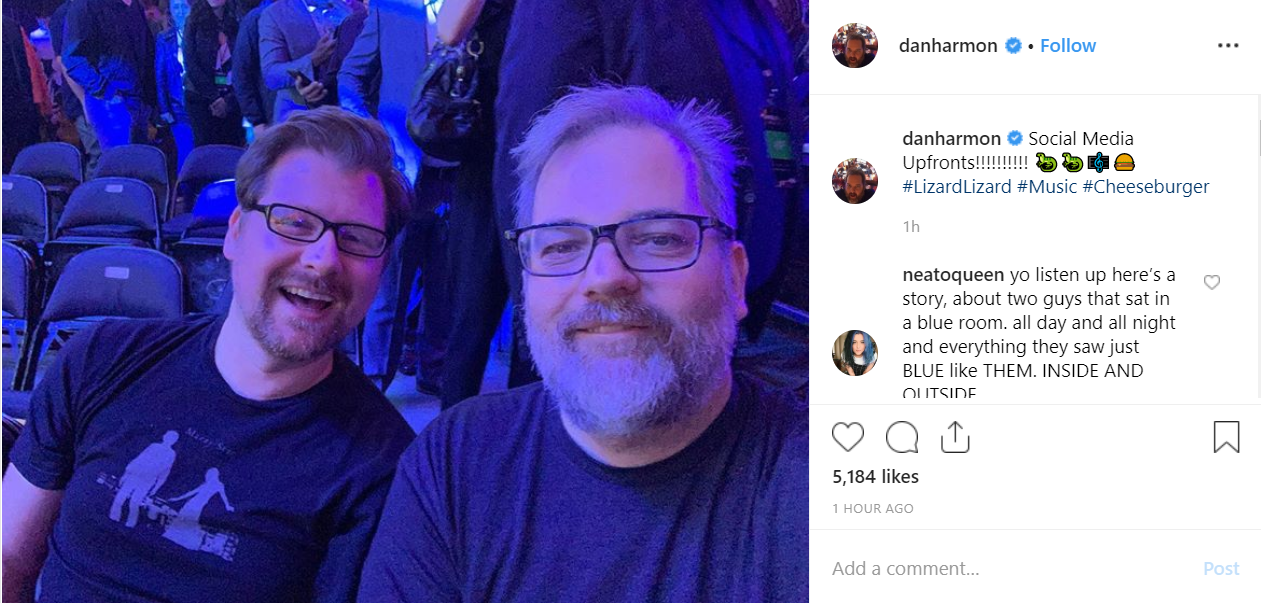 It's baaaack. Credit: Instagram/danharmon