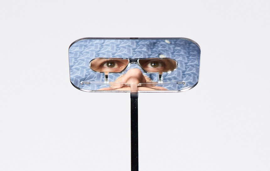 The glasses use angled mirrors to allow the wearer to see over the heads of taller people. Credit: Dominic Wilcox