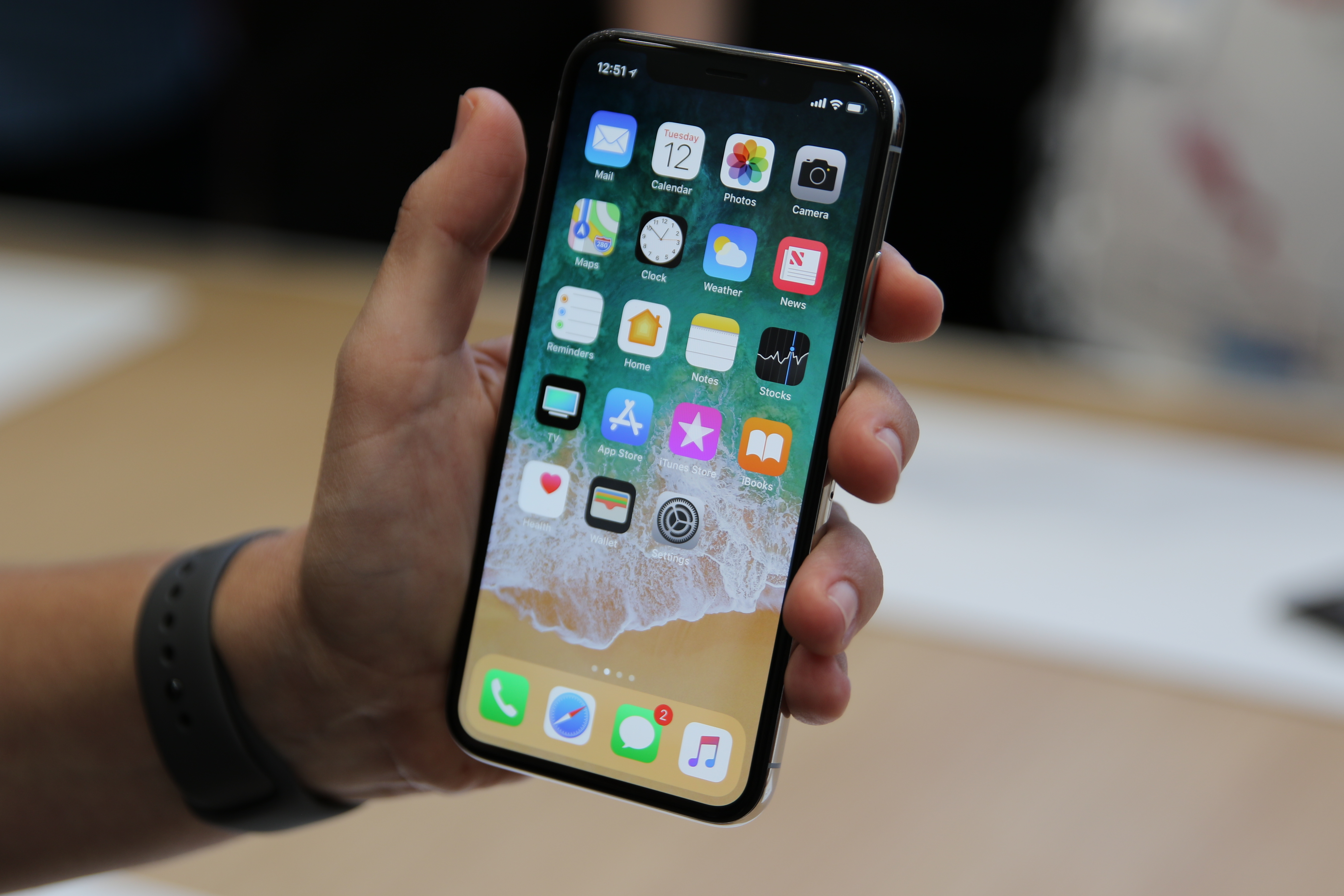 Apple's Face ID feature replaced Touch ID. Credit: PA