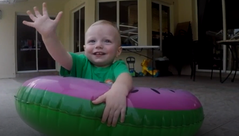 Dad's Incredible Superman Jump To Save Drowning 1-Year-Old Son