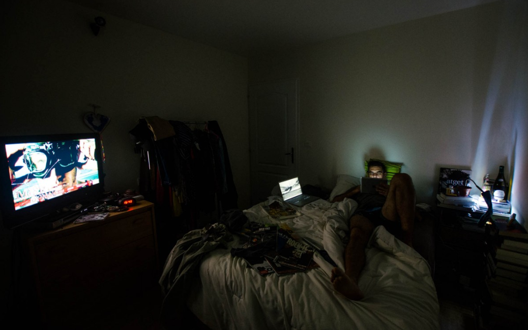 It turns out that staying up all night watching TV and eating isn't good for your health? Credit: Flickr