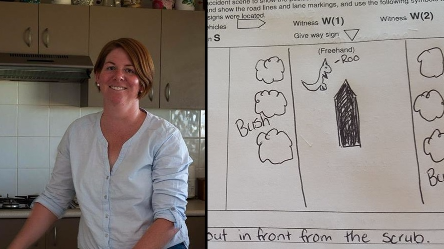 Aussie Woman Draws Piss-Funny Version Of Kangaroo For Insurance Claim