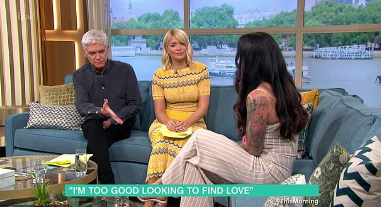 Jenna with Holly and Phil. Credit: ITV