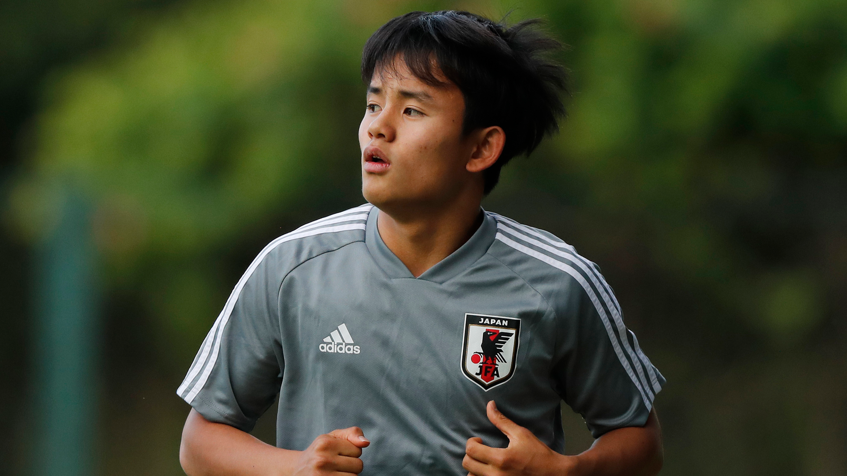 Kubo in Japan training. Image: PA Images