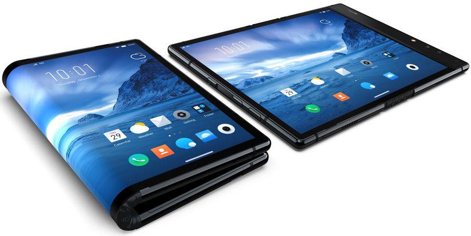 The Royole FlexPai foldable smartphone. Credit: Royole