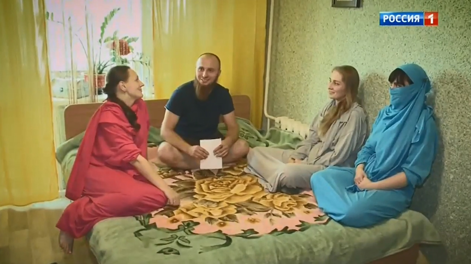 Ivan Sukhov invites his wives to bed each night. Credit: CEN